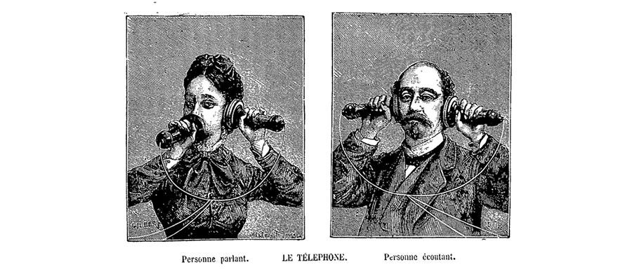"""В 1877 году петербургский завод немецкой фирмы """"Сименс и Гальске"""" начал выпускать телефонные аппараты с двумя телефонными трубками — для приема и для передачи речи. Фото: telhistory.ru"""
