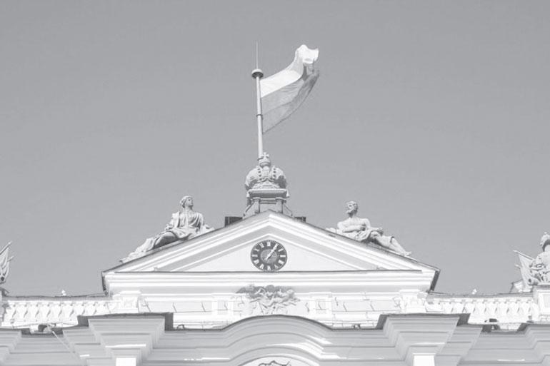 Часы на южном фронтоне Зимнего дворца. Фото: history.wikireading.ru
