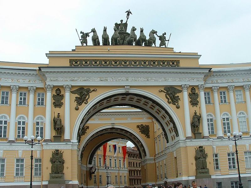 Колесница на здании Главного штаба. Фото: