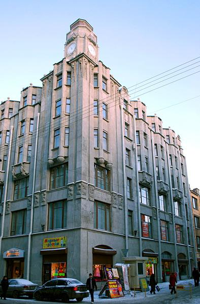 Доходный дом В. В. Корелина. Апраксин пер., 4. Фото: citywalls.ru