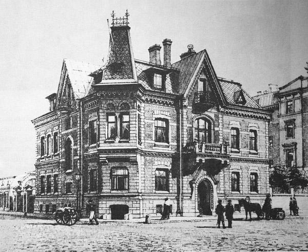Особняк. Перспективный вид. 1890 г. Фото: citywalls.ru