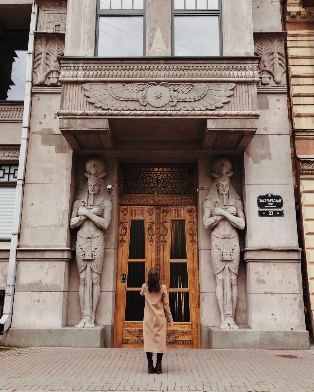 4. Египетский дом на Захарьевская улице, 23. Фото: pinterest.ie