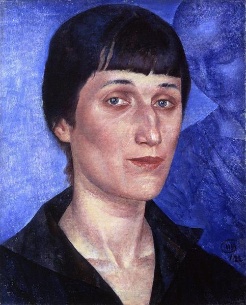 """""""Портрет Анны Ахматовой"""". Автор: К.Петров-Водкин, 1922 г."""
