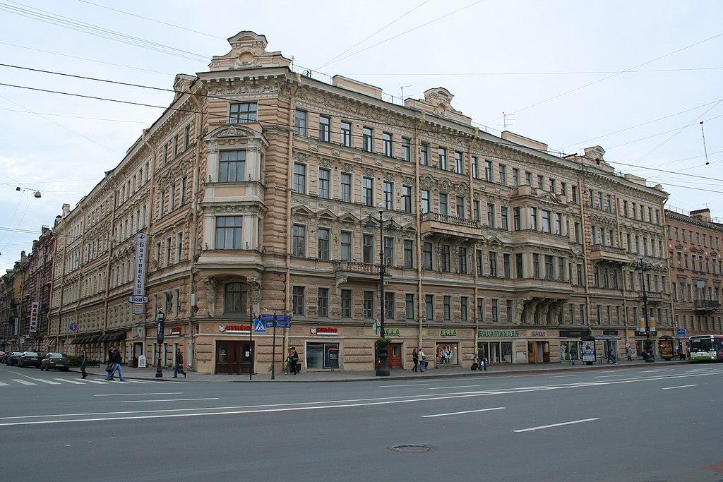 Невский проспект в Санкт-Петербурге. Дом № 77. Фото: A.Savin