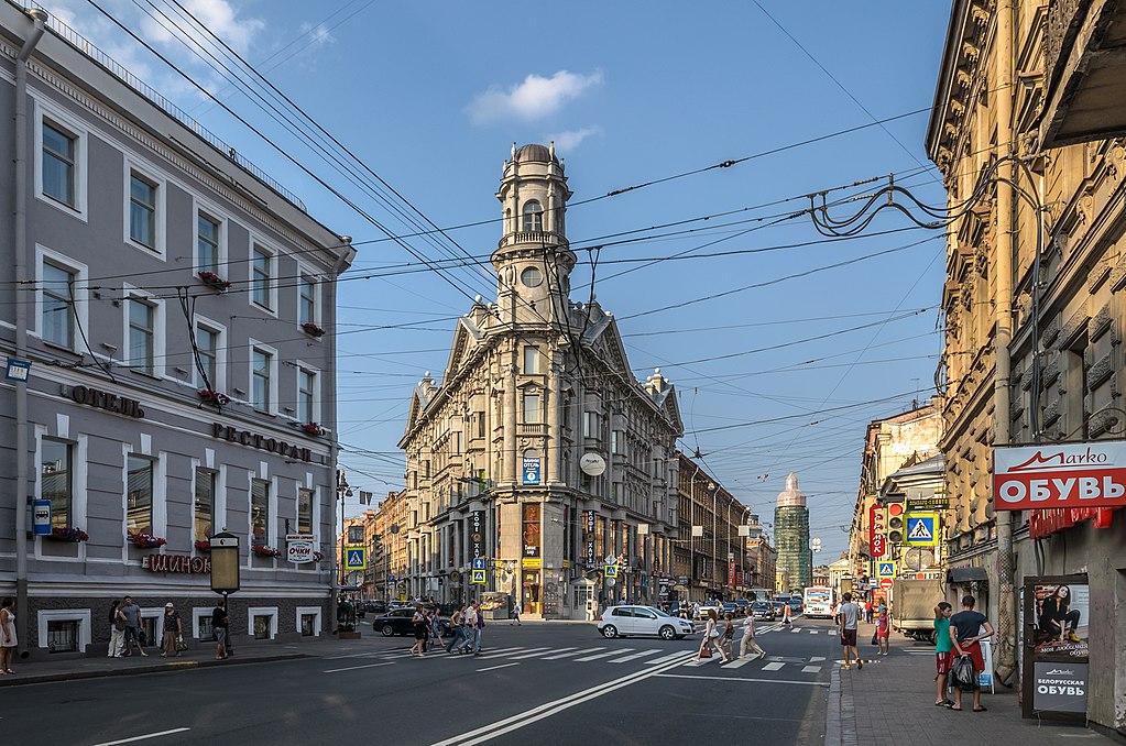 """""""Пять углов"""" в Петербурге. Фото: Florstein (WikiPhotoSpace)"""