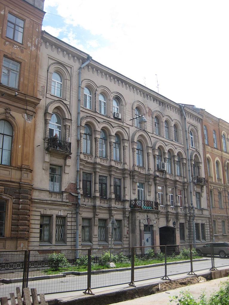 Доходный дом Е. К. Эренберга. Моховая, 4. Фото: Skydrinker (Wikimedia Commons)