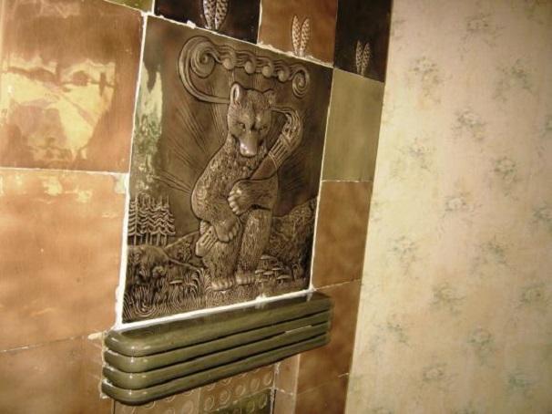"""Печь """"Мишка"""" в музее-квартире Елизаровых (Дом Эрлиха)"""