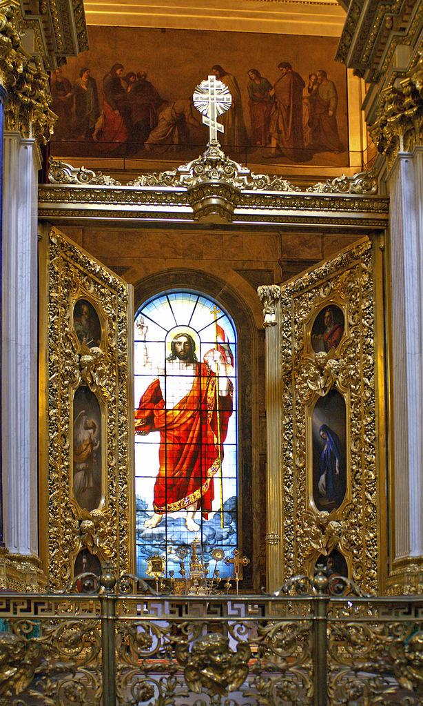 Воскресение Христа. 1841—1843. Витраж главного алтаря