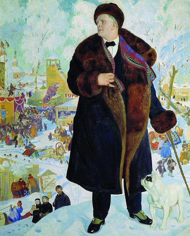Б. М. Кустодиев. Портрет Ф. И. Шаляпина, 1921 г. Источник: Wikimedia Commons