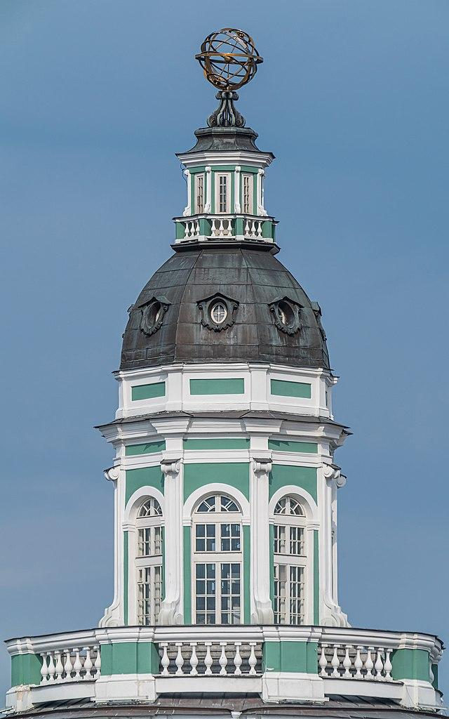 Башня Кунсткамеры. Фото: A.Savin (Wikimedia Commons · WikiPhotoSpace)