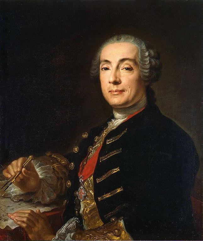 Портрет Бартоломео Франческо Растрелли. Автор: Пфанцельт, Лукас Конрад