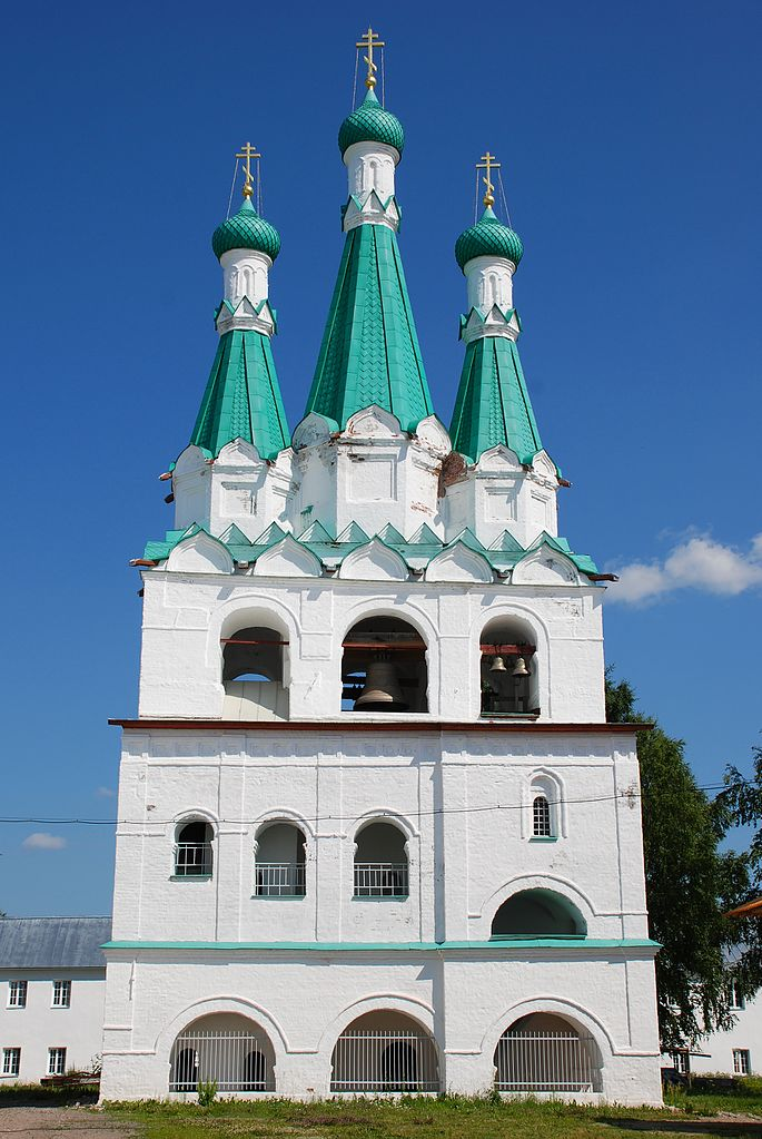 Звонница. Свято-Троицкий Александра Свирского мужской монастырь. Фото: Juliaf1 (Wikimedia Commons)