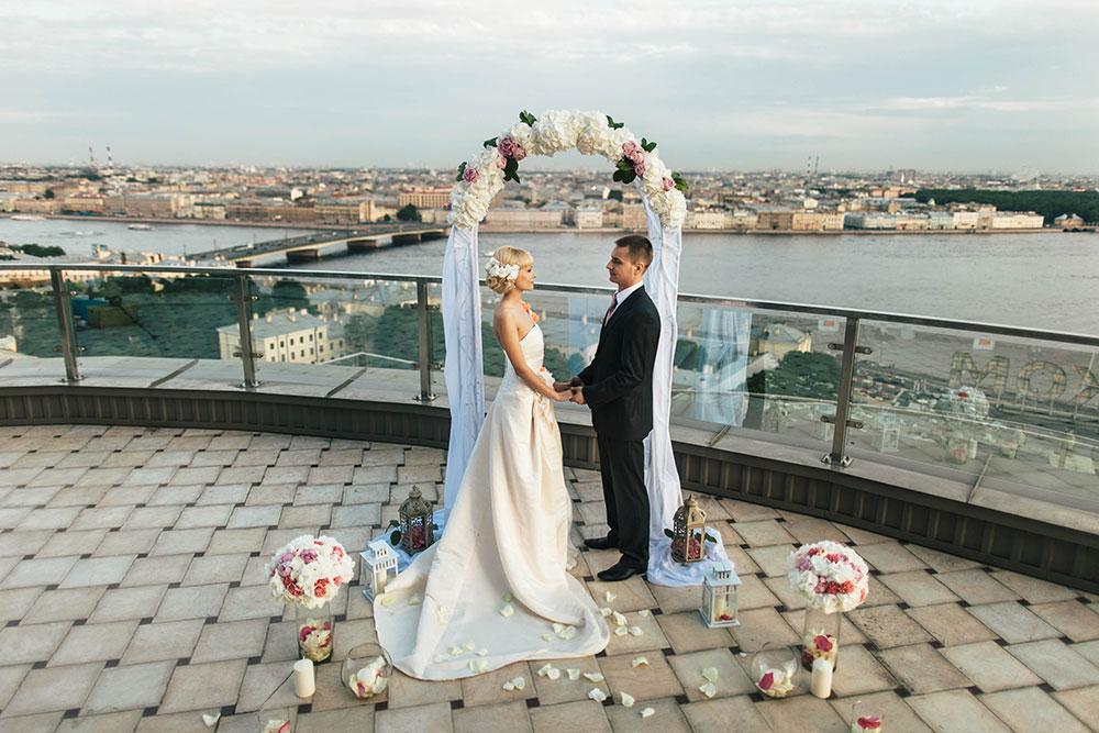 Свадьбы на крышах Петербурга