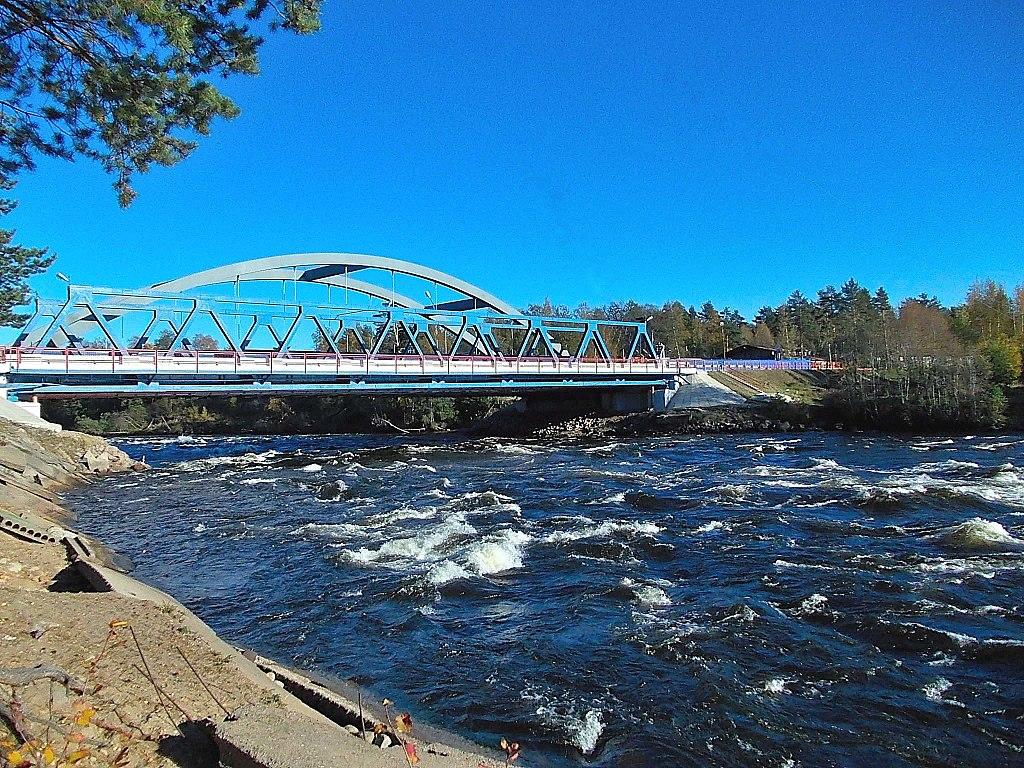Лосевские пороги на реке Вуокса. Автор фото: Uz1awa (Wikimedia Commons)