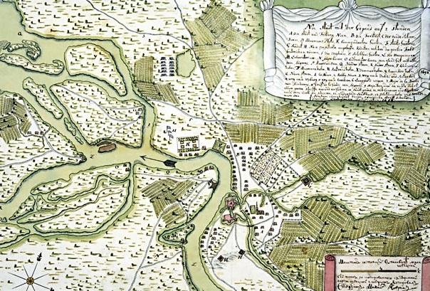 Устье реки Невы, город Ниен с окрестностями, конец 17 в. Фото: