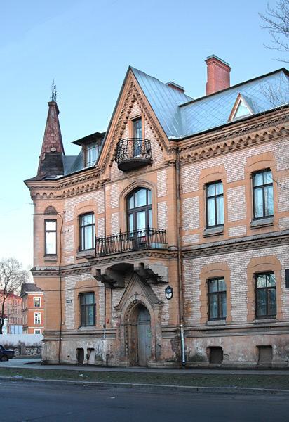 Особняк В. А. Шретера. Фасад по ул. Писарева. Фото: citywalls.ru