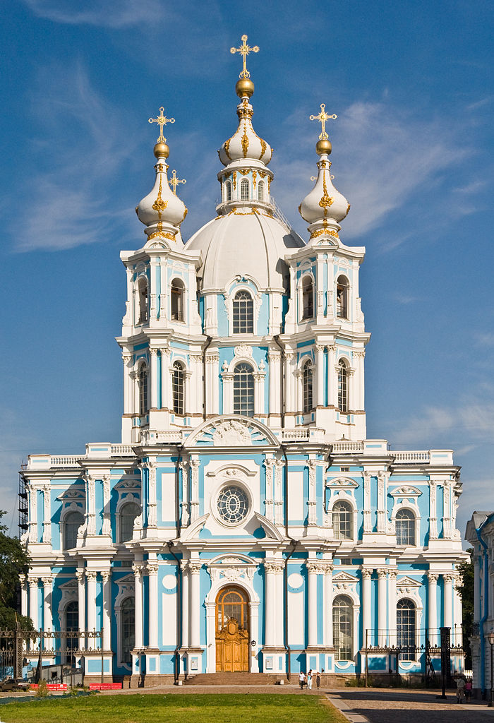 Смольный собор. Фото: George Shuklin (Wikimedia Commons)