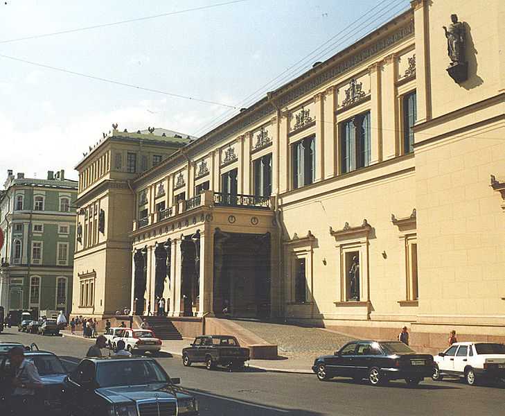 Вид здания Нового Эрмитажа со стороны Миллионной улицы. Автор: Muratov Vitold, Wikimedia Commons