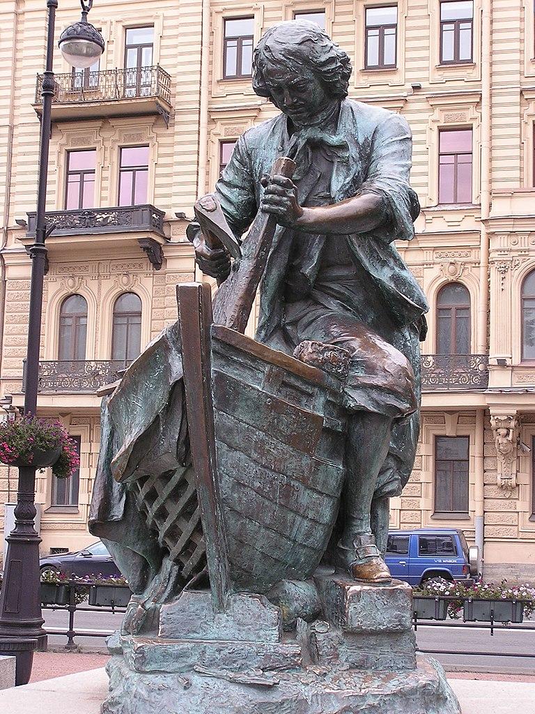 Памятник на Адмиралтейской набережной. Фото: Andrew Butko (Wikimedia Commons)