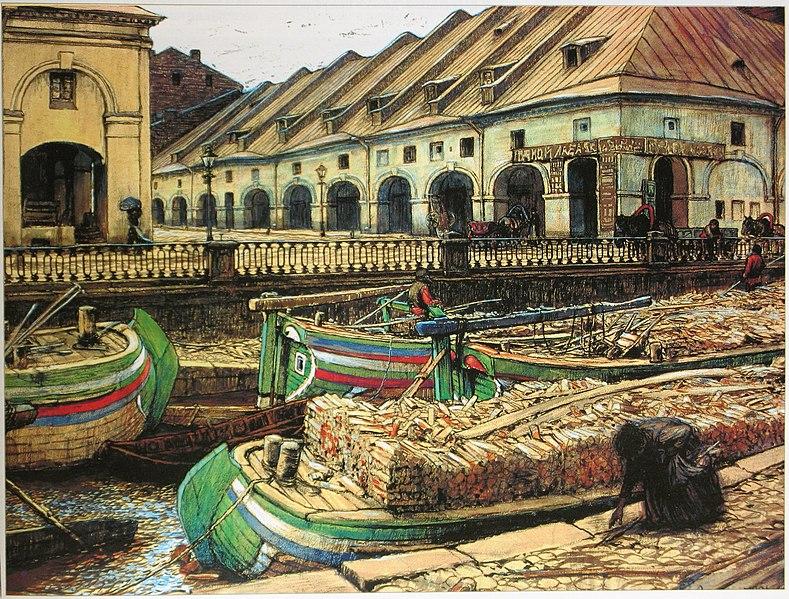 Е. Е. Лансере. Никольский рынок в Петербурге. Фото: cyclowiki.org