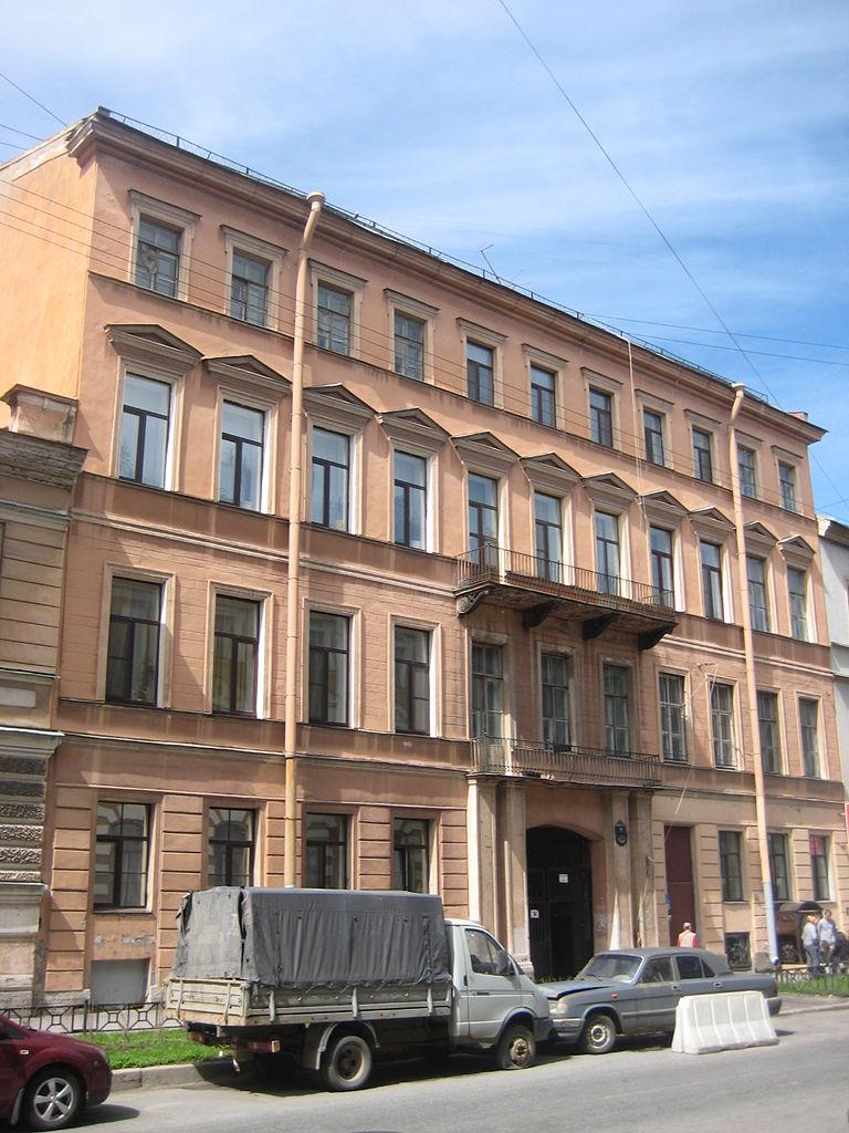 Дом О. П. Головкина, Моховая, 7. Фото: Skydrinker (Wikimedia Commons)