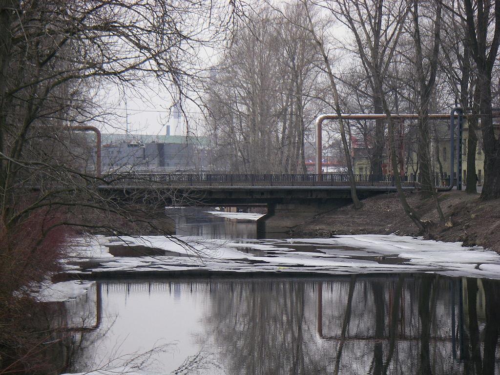 Подзорный мост через Пряжку. Фото: One half 3544