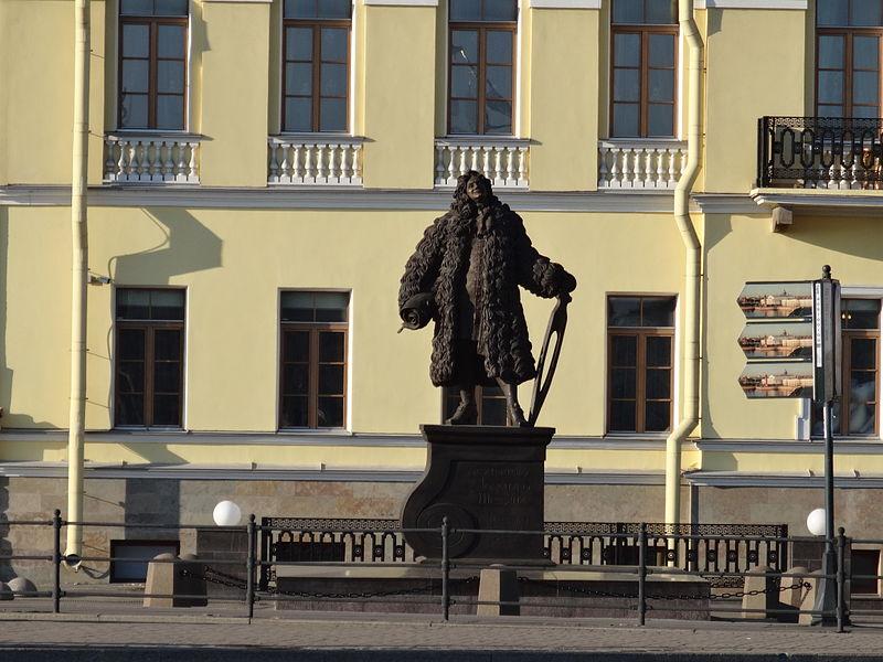 Памятник Трезини Университетская наб. Автор: Надежда Пивоварова, Wikimedia Commons