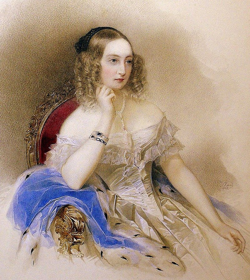 Великая княгиня Елена Павловна в 1840 году, портрет Владимира Гау