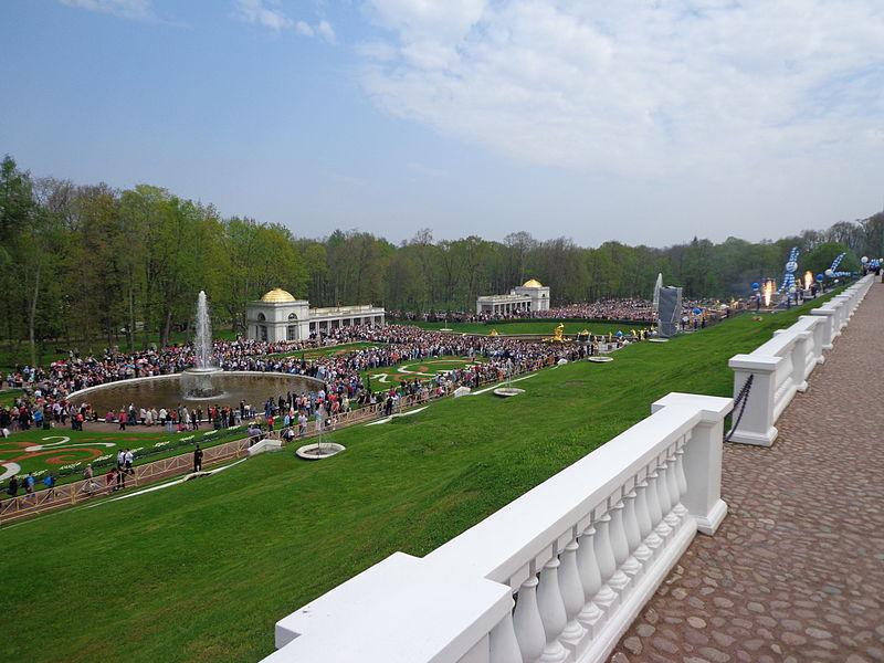 Петергоф. Нижний парк. Воронихинские колоннады