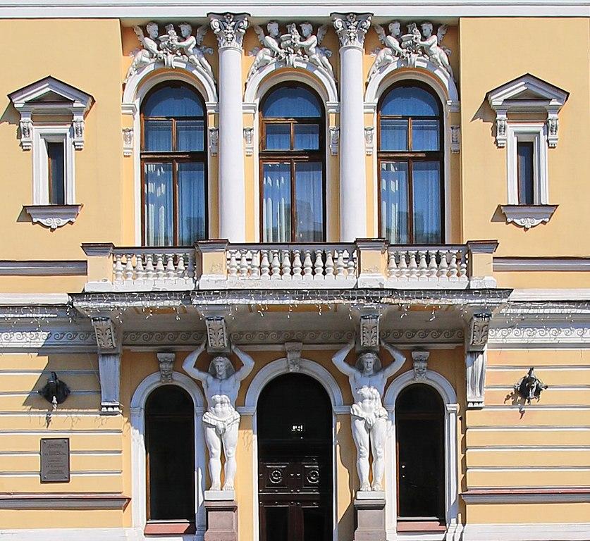 """Балкон Дворца """"Малютка"""" на улице Фурштатской, 58, 2018 г.. Фото: GAlexandrova (Wikimedia Commons)"""