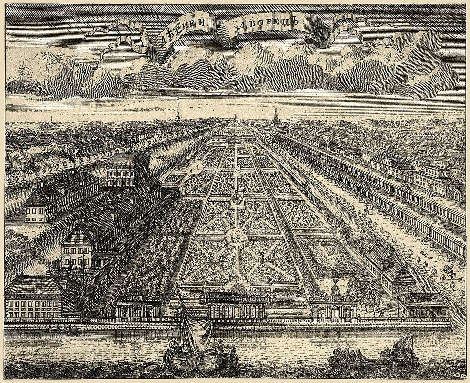 Летний сад в 1716 г.