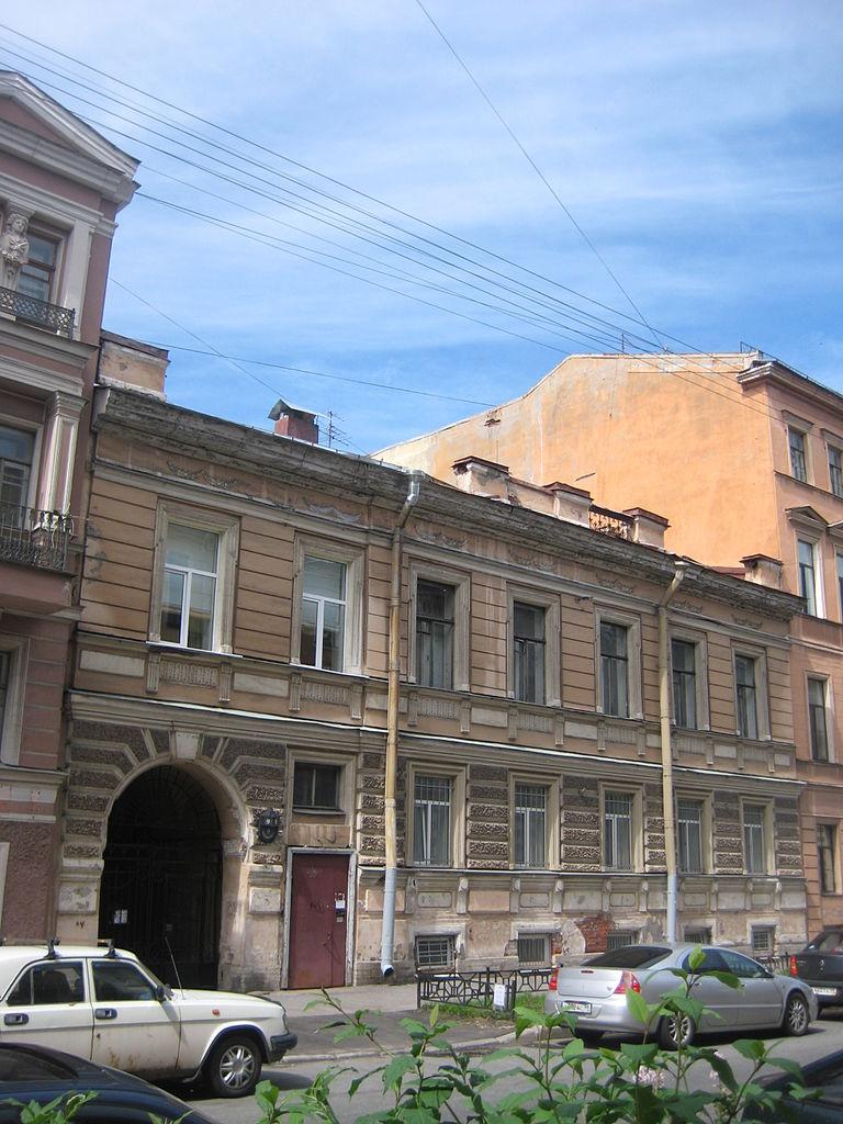 Дом А. И. Веригина. Моховая, 9. Фото: Skydrinker (Wikimedia Commons)