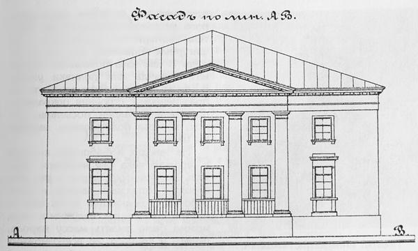 Проект смотрительского дома в Екатерингофе. Арх. В. И. Беретти, 1834 г.