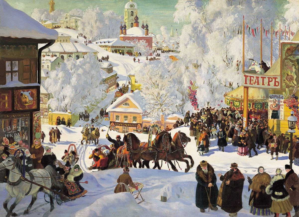 "Кустодиев Б. М. ""Масленица"", 1916 г."