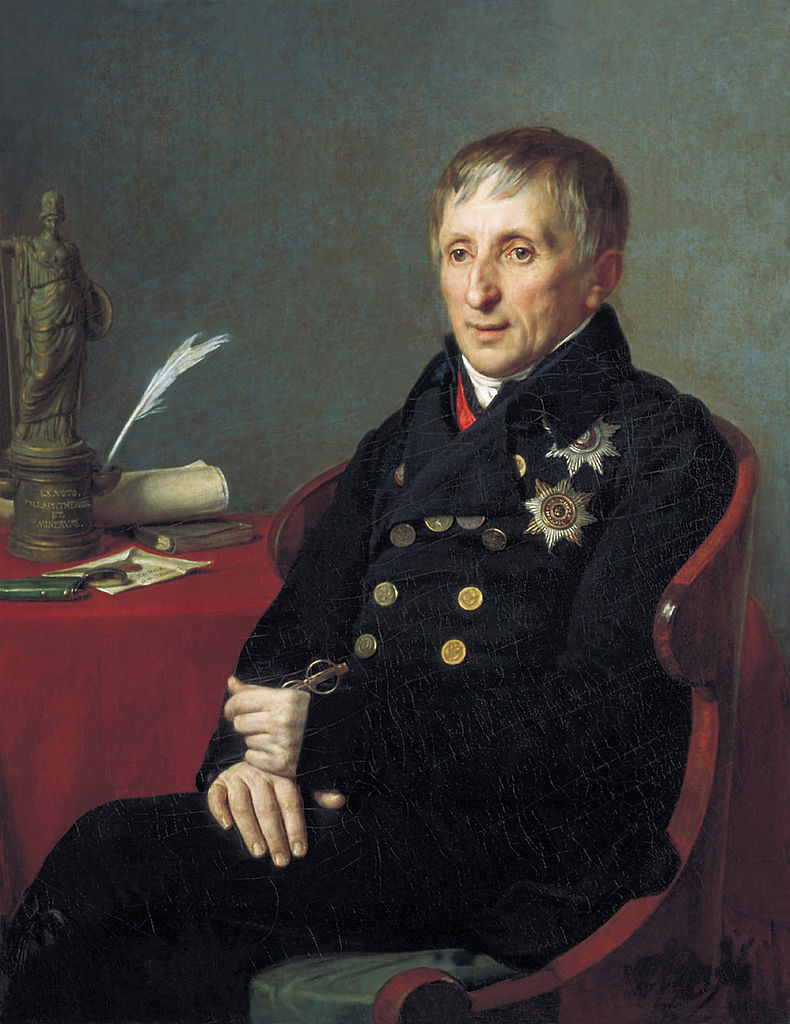 Портрет Алексея Николаевича Оленина 1824 г. Автор: Александр Григорьевич Варнек (Wikimedia Commons)