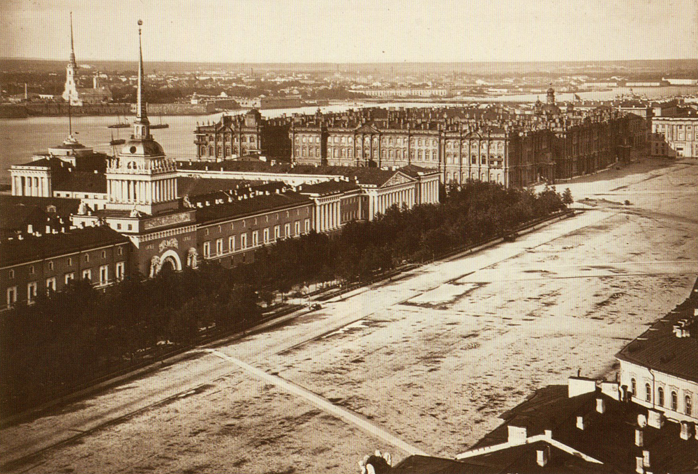 Фото Адмиралтейской площади до 1874 г.