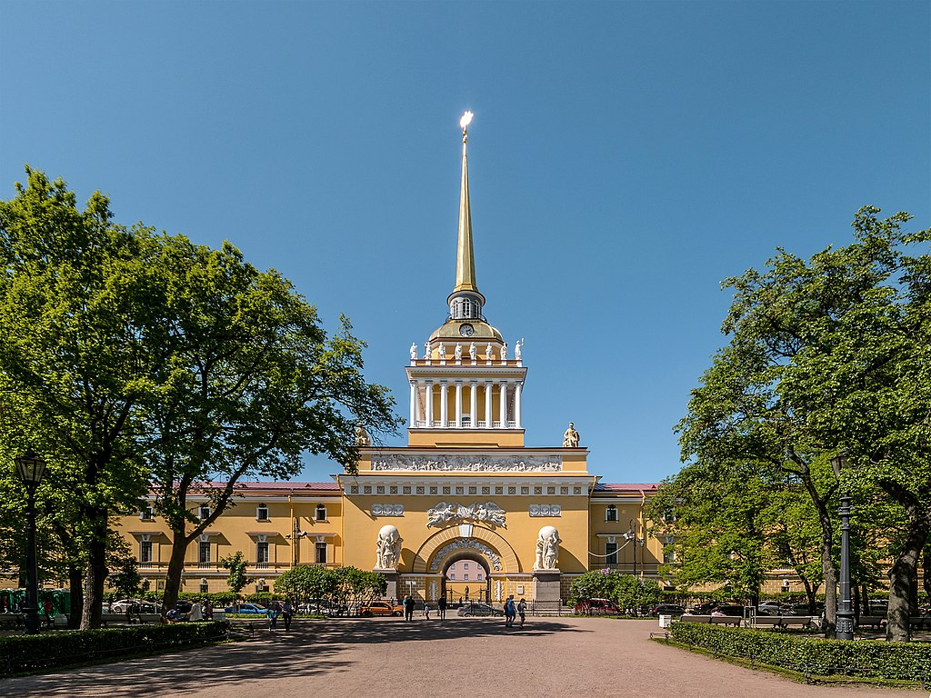 Главное адмиралтейство в Санкт-Петербурге. Автор фото: Florstein (WikiPhotoSpace)