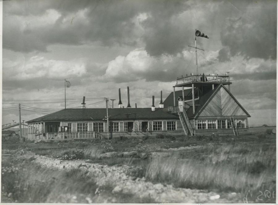 Здание первого аэровокзала, 1933 г. Автор: неизвестен