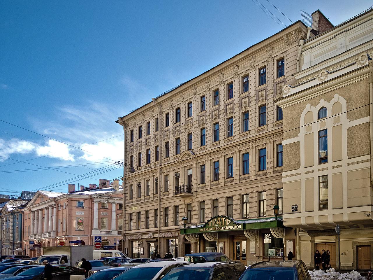 Академический драматический театр имени Комиссаржевской. Фото: Florstein (Wikimedia Commons)