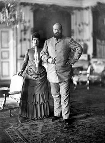 Мария Фёдоровна и Александр III в Дании, 1892 г. Источник: Wikimedia Commons
