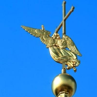 Ангел на Петропавловской крепости. Фото: http://peterburg.center/in/angel-na-petropavlovskoy-kreposti.html