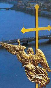 Ангел на шпиле Петропавловского собора Петропавловской крепости. Фото: https://www.gov.spb.ru