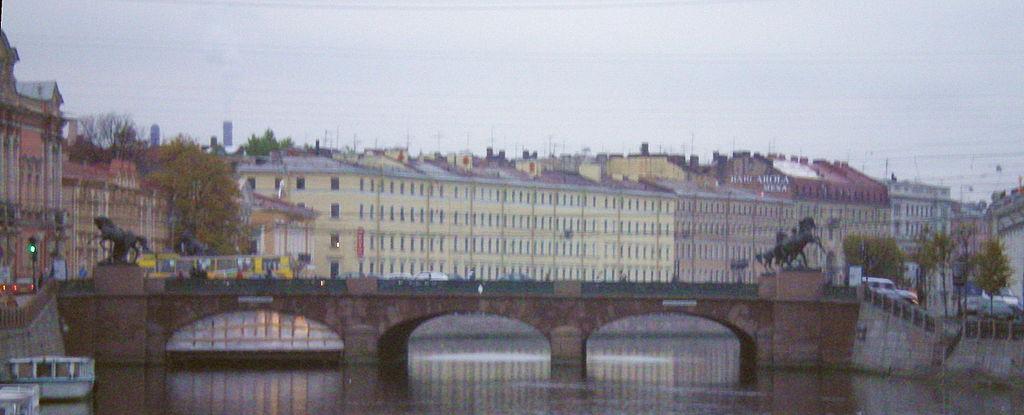 Общий вид моста поздней осенью 2007 года. Фото: Андрей! (Wikimedia Commons)