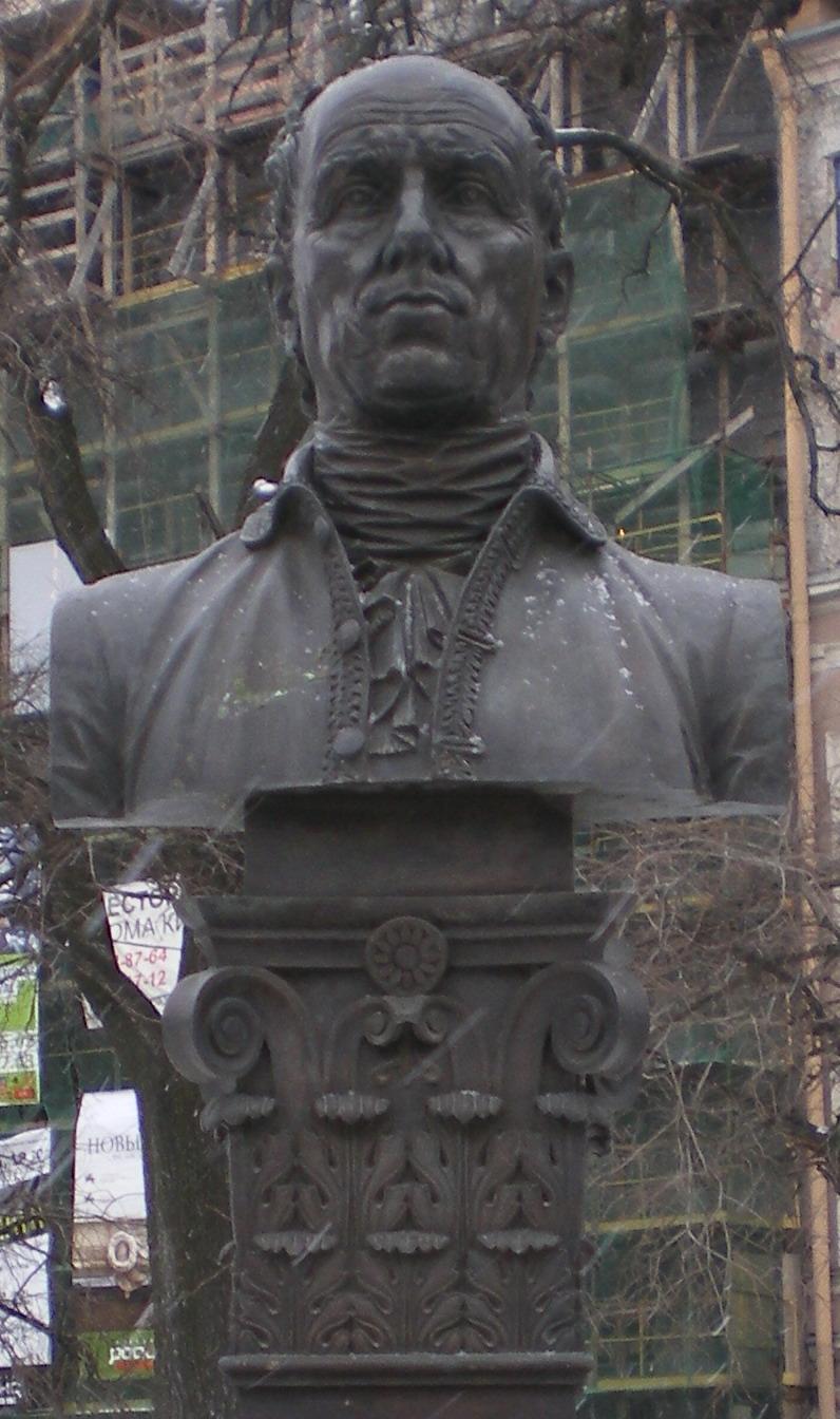 Бюст Ринальди в сквере Манежной площади. Фото: Андрей!(Wikimedia Commons)