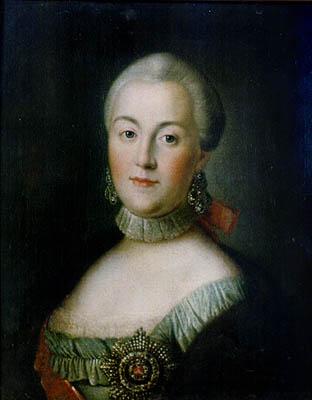 Портрет великой княгини Екатерины Алексеевны, 1750-е гг.