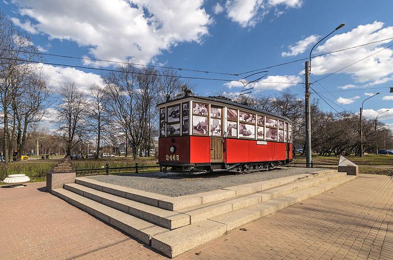 Мемориал Блокадному Трамваю на проспекте Стачек, источник фото: Wikimedia Commons, Автор: Florstein (WikiPhotoSpace)