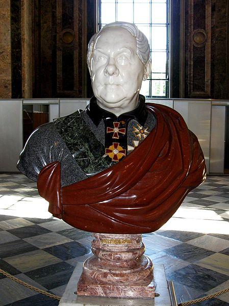 Бюст Огюста Монферрана в Исаакиевском соборе. Автор фото: A. C. Tatarinov (Wikimedia Commons)