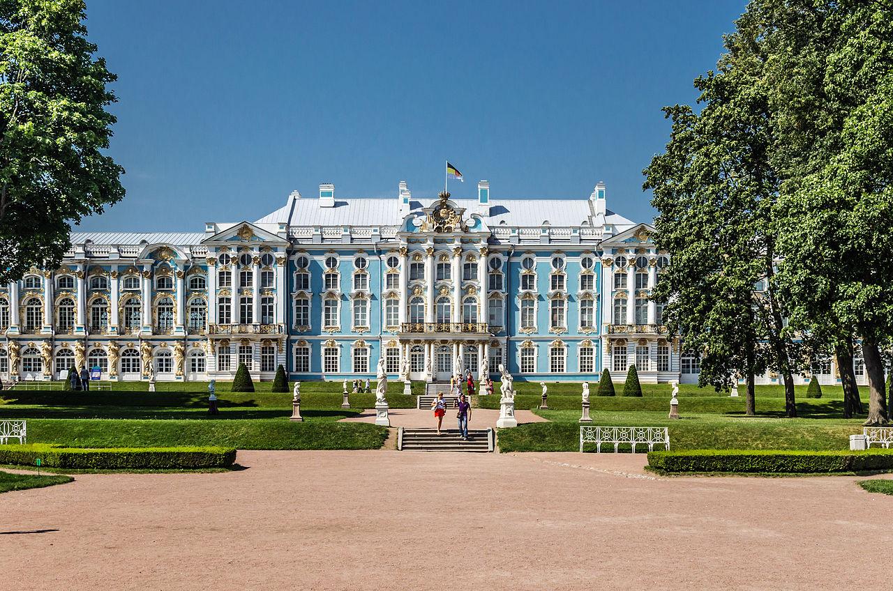 Южная сторона. Екатерининский дворец в Царском селе. Автор фото: Florstein (WikiPhotoSpace)