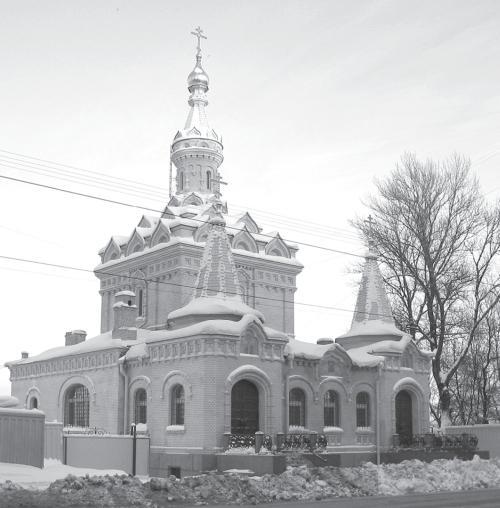 Часовня Скорбященской церкви (пр. Обуховской обороны, 24). Фото: SerguntiuS, февраль 2010 г.