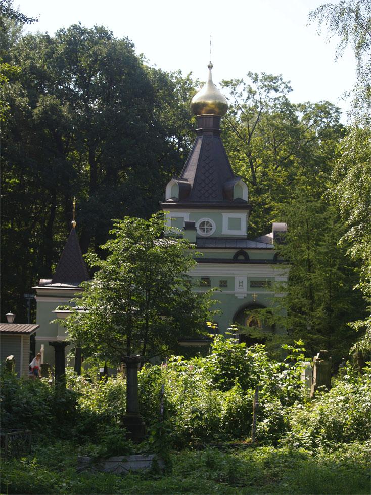 Часовня Ксении Петербургской на Смоленском кладбище.